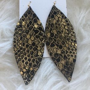 Reptile Feather Earrings